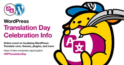 Week celebration poster with the Polyglots Wapuu