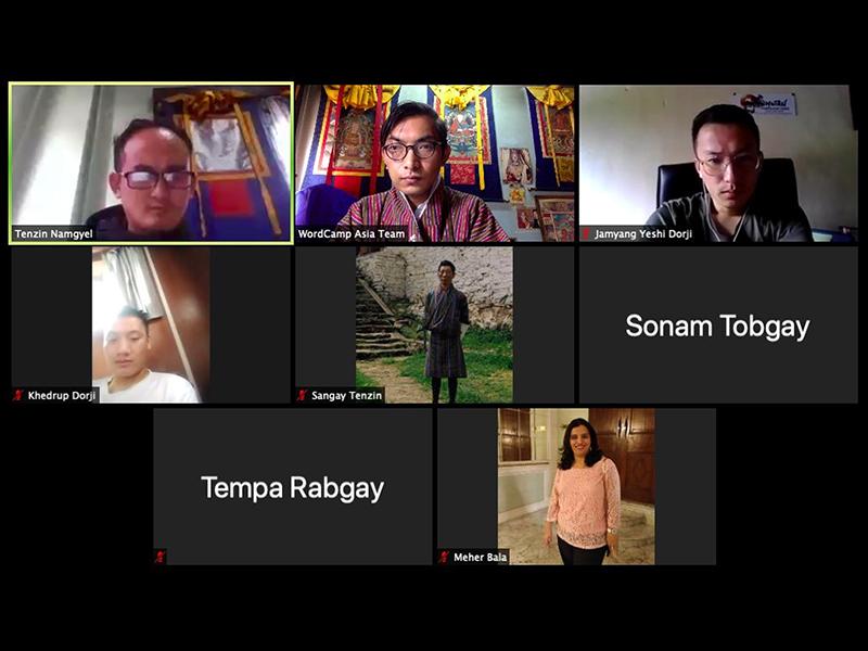 A group of 8 translators contributing towards Dzongkha Bhutanese's mini events.