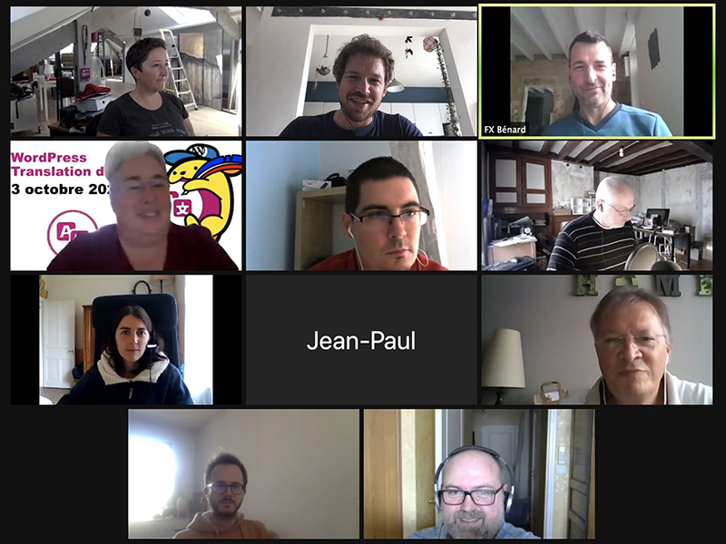 A group of 11 translators contributing towards French mini events.