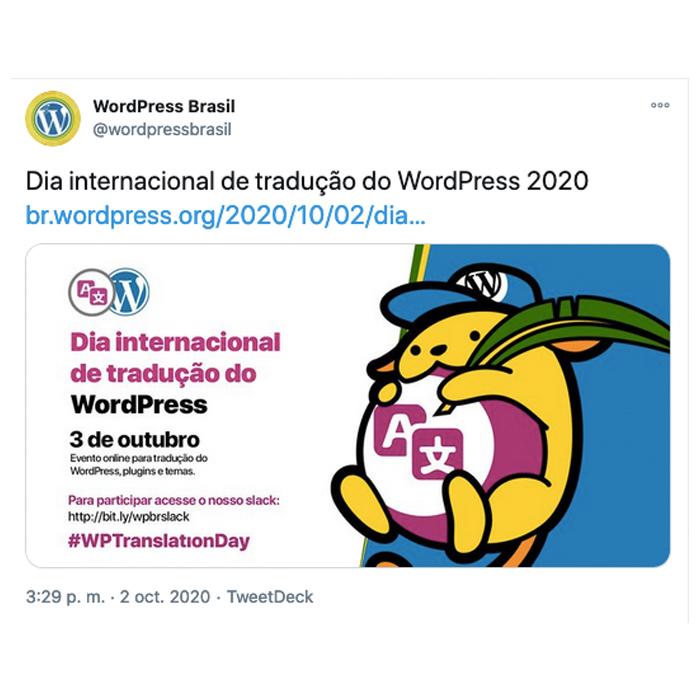 Portuguese Brazil Tweet