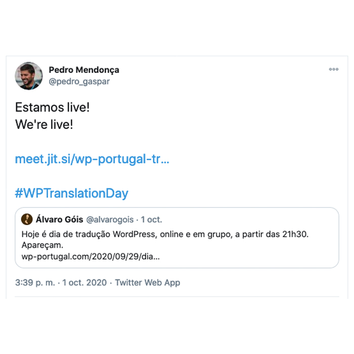 Portuguese Portugal Tweet