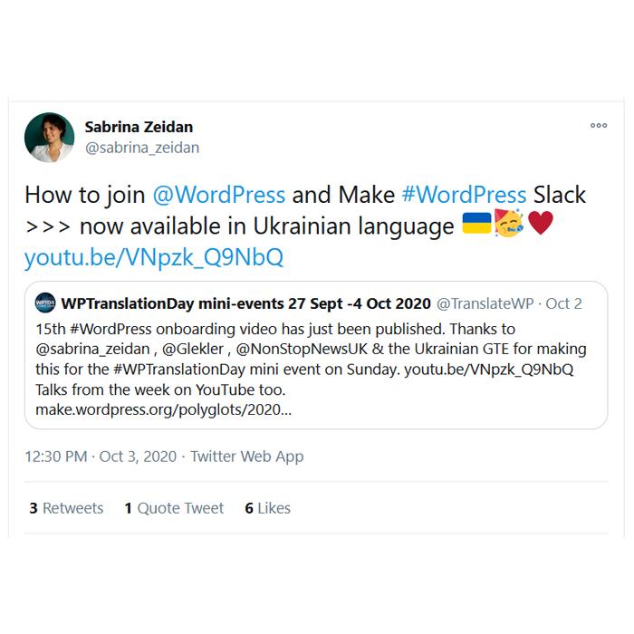Ukrainian Tweet